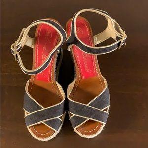 Paloma Barcelo Wedge Sandals in size 6.5